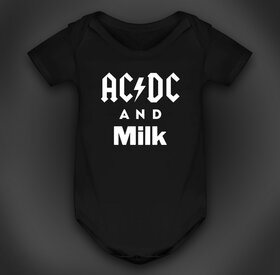 "Бебешко боди ""AC/DC and milk"""